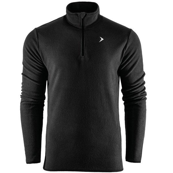Thermal Fleece Zip - Herren Fleece Longshirt - 2ndLayer - schwarz