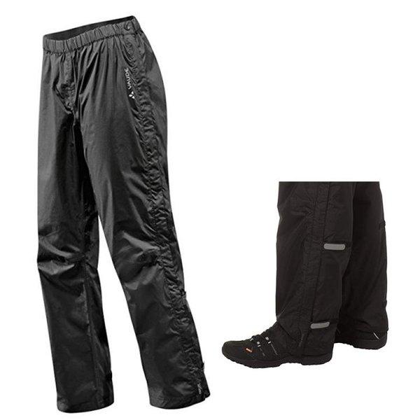 Vaude Fluid Full Zip Pants - Ii Hose 2 Lagen Regenhose - schwarz - 54/XL