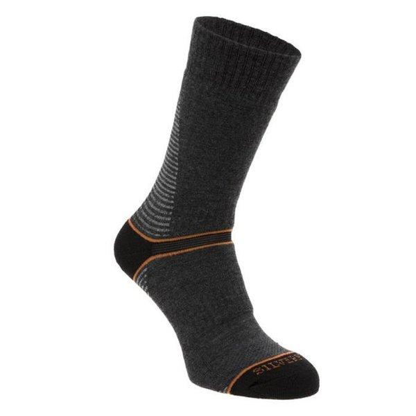 Silverpoint - On The Move Boot Sock - Merino Socken - grau orange